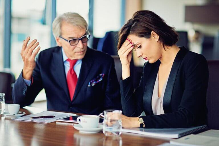 businessman discussing bad company public relations